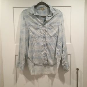 Faded Wash Button Up Shirt